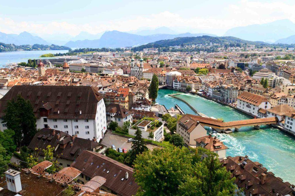 Blick auf Stadt Luzern
