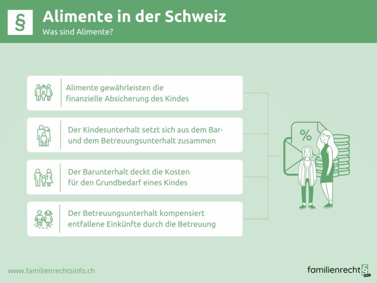 Infografik zu Allgemeines zum Thema Alimente