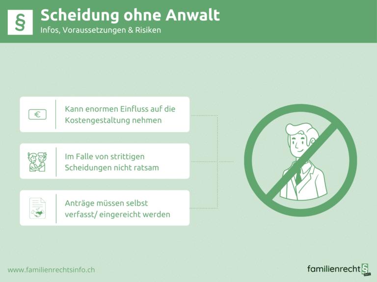 Infografik zu Infos bei Scheidung ohne Anwalt