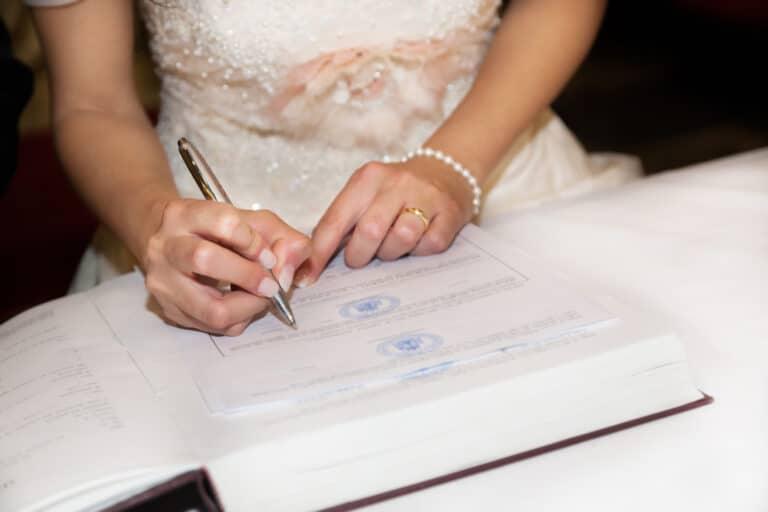 Namensänderung nach Hochzeit