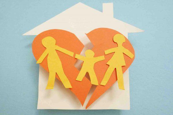 Papiermodell Scheidung